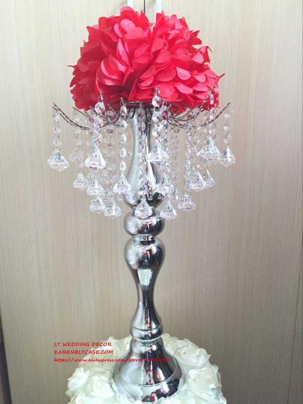 wedding table centerpiece crystal flower holder decor
