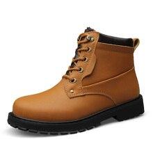 37-52 Large Winter Men Boots Soft Leather Plush Winter Boots Men Warm Plus Size US 17 US 18