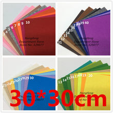 40pcs Non Woven Felt Fabric 1mm Square Polyester Cloth 30*30cm For Handmade Home Decoration Sewing Needlework Crafts Dolls Toys(China)