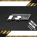 FAST SHIPPING R line Metal 3D Front Hood Grill Badge Car Emblem stickers for VW Golf 6 Jetta MK5 MK6 POLO passat B5 B6 B7