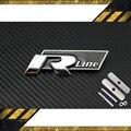 TRANSPORTE RÁPIDO linha R Metal 3D Frente Capa Grill Emblema Emblema Do Carro adesivos para VW Golf 6 Jetta MK5 MK6 POLO passat B5 B6 B7