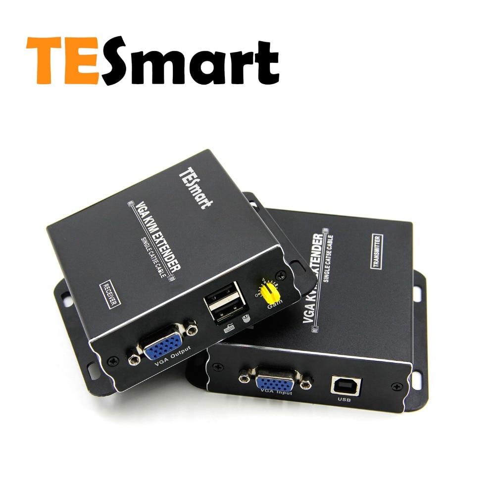 VGA KVM Extender 300m KVM VGA Extender USB2.0 To 1080P 60Hz By CAT5e/6 IR Remote DVR(one Extender Sender+one Extender Receiver)