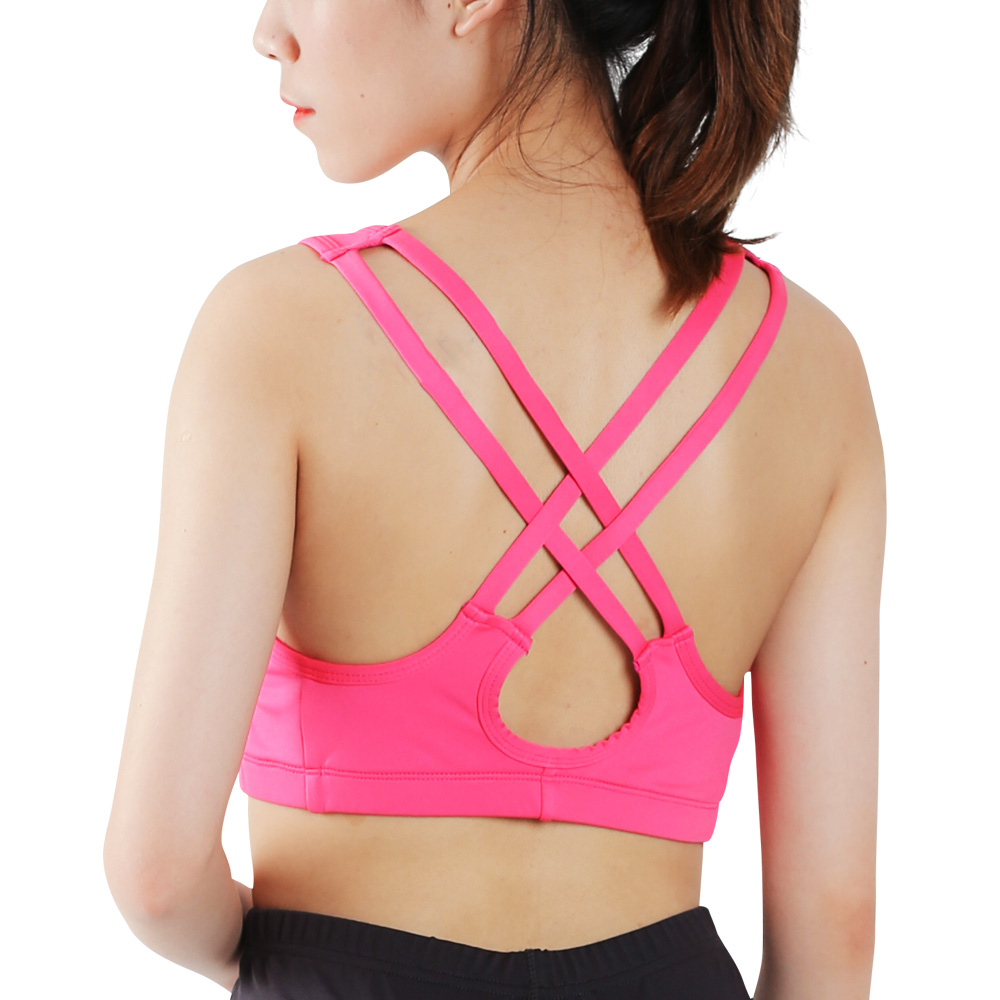 MEIERSES Sport Bra Fitness Gym Women Shirts Strappy Vest Seamless Padded Cross Fitness Yoga Shirts Sportswear Tank Top Yoga Bras