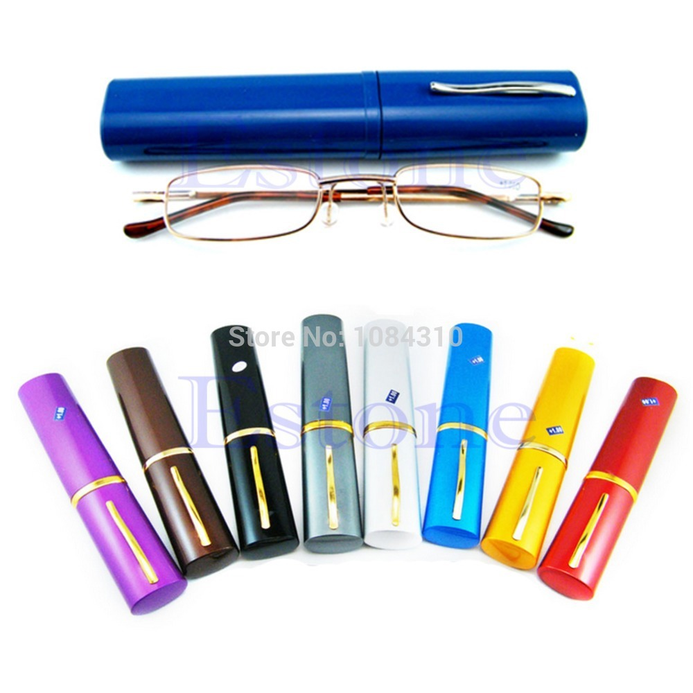 1 PC New Comfy Reading Glasses Alloy Container Presbyopia 1 0 1 5 2 0 2