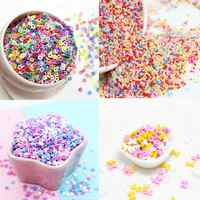 100g Polymer Clay Sprinkles DIY Food Craft Fake Fimo Rainbow Toppings Confetti Phone Case Decoden Resin Embellishments
