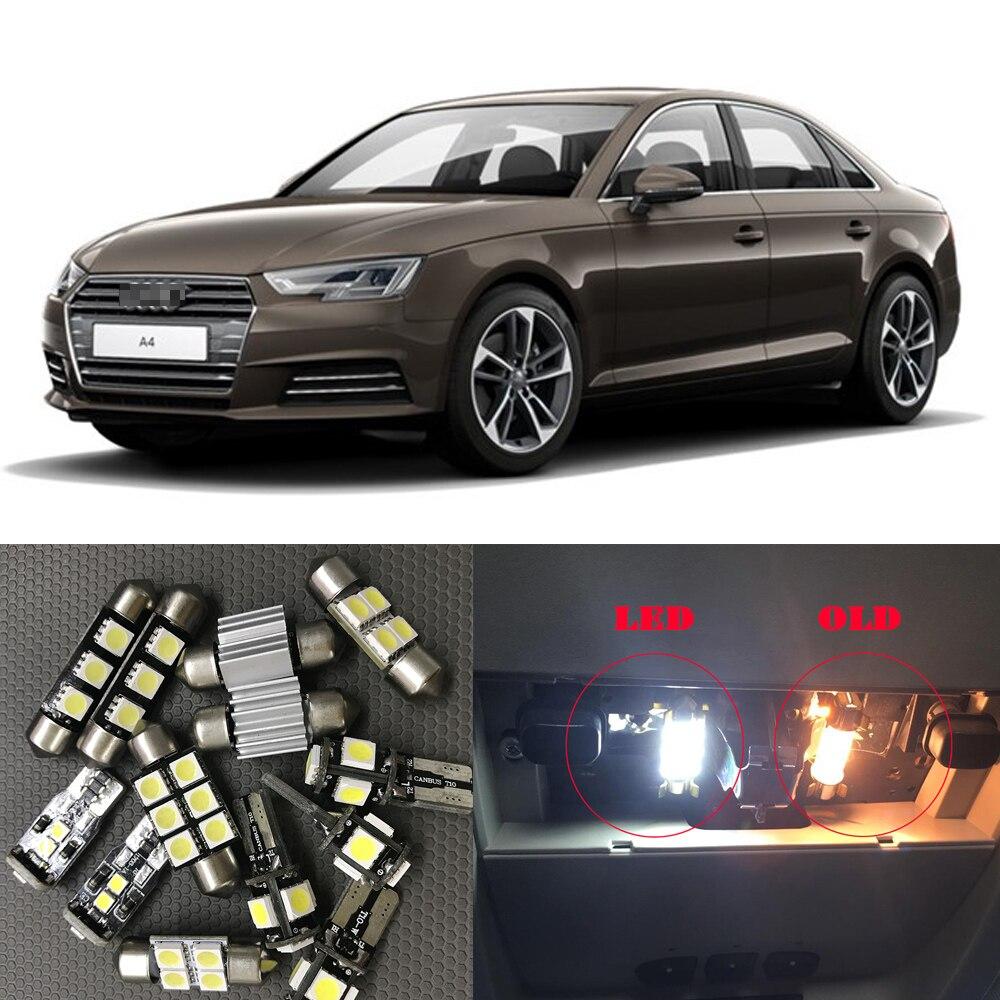 18pcs 6000K White Auto LED Interior Light Bulbs Canbus Kit