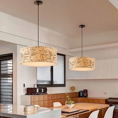 Single Round Art Pendant Lamps New Nordic Simple Modern Linen Fabric Light Dining Room Bedroom Study Bar Zcl In Lights From