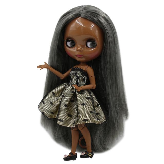 TBL Neo Blythe lutka ravna sijeda kosa spojena tijela