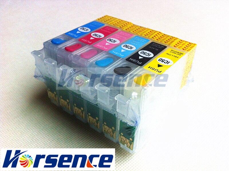 6 шт T0781 Refillable патрон чернил для принтера Epson R260 R280 R380 RX500 RX580 RX595 RX680 ремесленника 50 принтер с микросхемами Arc