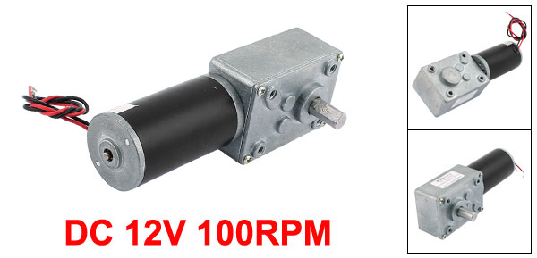 UXCELL DC 12V 100RPM 8mmx14mm D-Shape Shaft Electric Power Turbo Worm Geared Motor for Remote Control CurtainsUXCELL DC 12V 100RPM 8mmx14mm D-Shape Shaft Electric Power Turbo Worm Geared Motor for Remote Control Curtains
