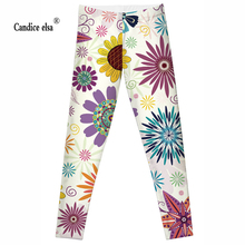 2016 Fashion Plus Size Sexy Extra-terrestrial Digital Printing Fitness Shining sunflower LEGGINGS S-4XL Drop Shipping