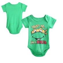 2016 Newborn Baby Boy&Girls TMNT Rompers Playsuit One-piece Age 0~12Months