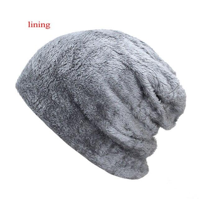 2020 Winter Hats For Men Skullies Beanie Hat Winter Cap Men Women Wool Scarf Caps Set Balaclava Mask Gorras Bonnet Knitted Hat 3