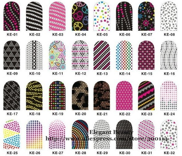 Wholesale 2014 New Arrival Mix 192 Style 3d Nail Sticker Nail Foil