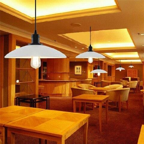 cafe criativo pote de ferro lampada pingente dia32cm ac110v 220 v 230 v