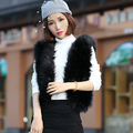 2016 Contrajo Moda de Piel Falsa Chaleco mujeres Otoño Invierno femenina corto Abrigo corto faux fur jacket ladies elegante chaleco 6129