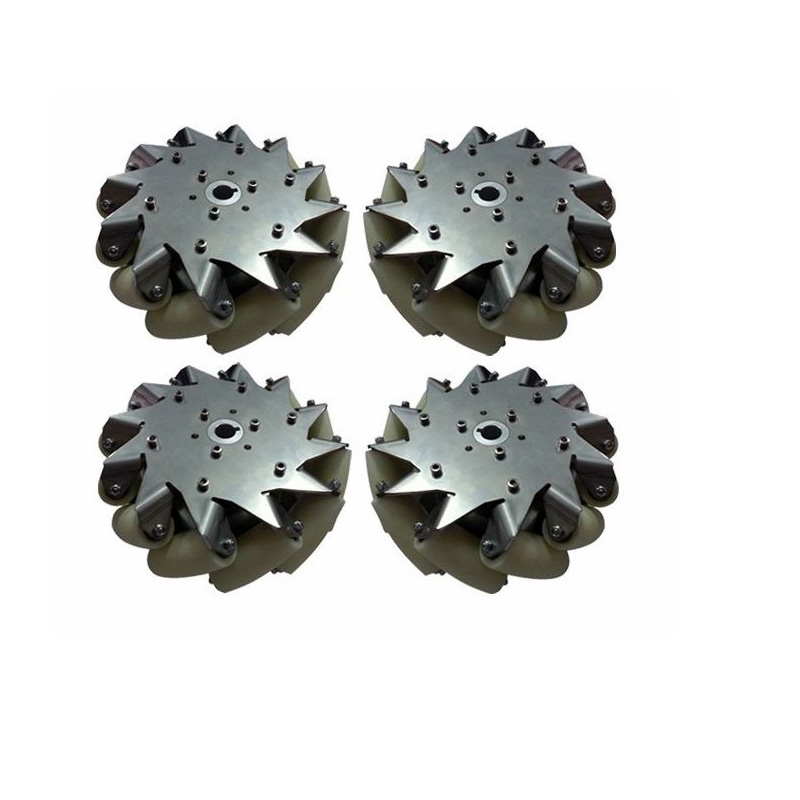 A Set of More than 150 Kg Load Industrial Wheels 8 Inch Mecanum Wheels online Wholesale(2 Left, 2 Right) 4 inch 100mm aluminum mecanum wheels set basic 2 left 2 right for robot car 14162