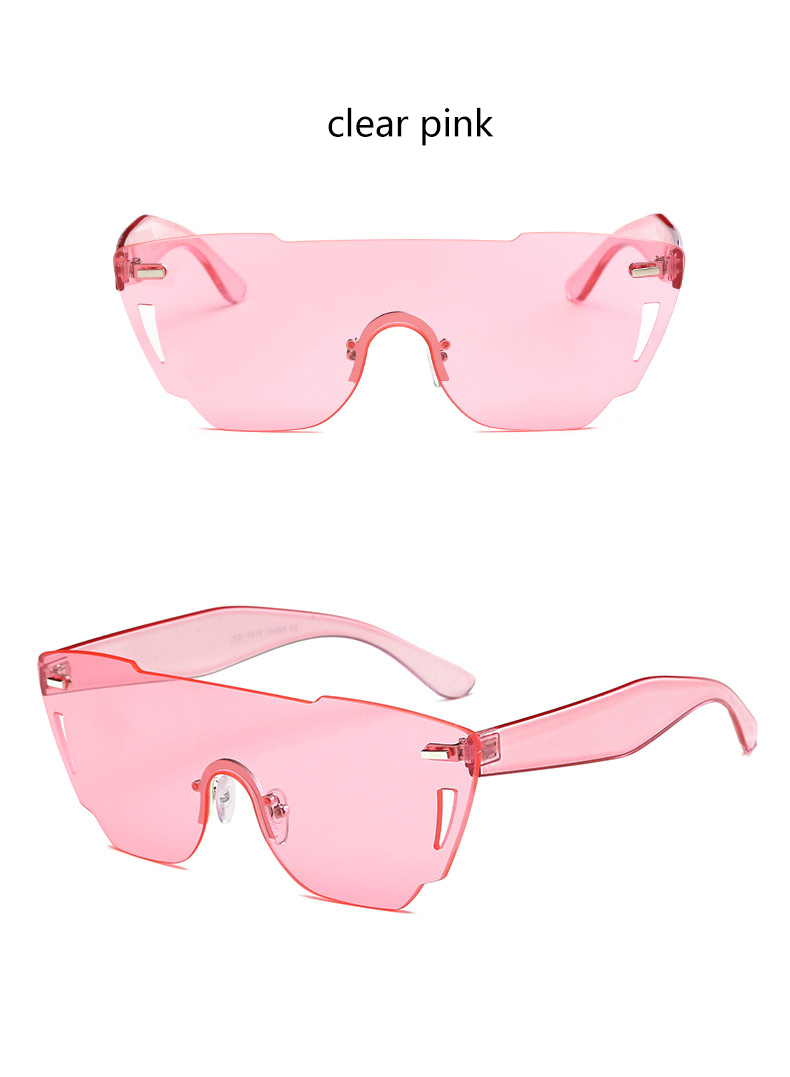 HTB16mhSRXXXXXXbXFXXq6xXFXXXG - Candy Color Sunglasses Flat Top Rimless Sunglasses