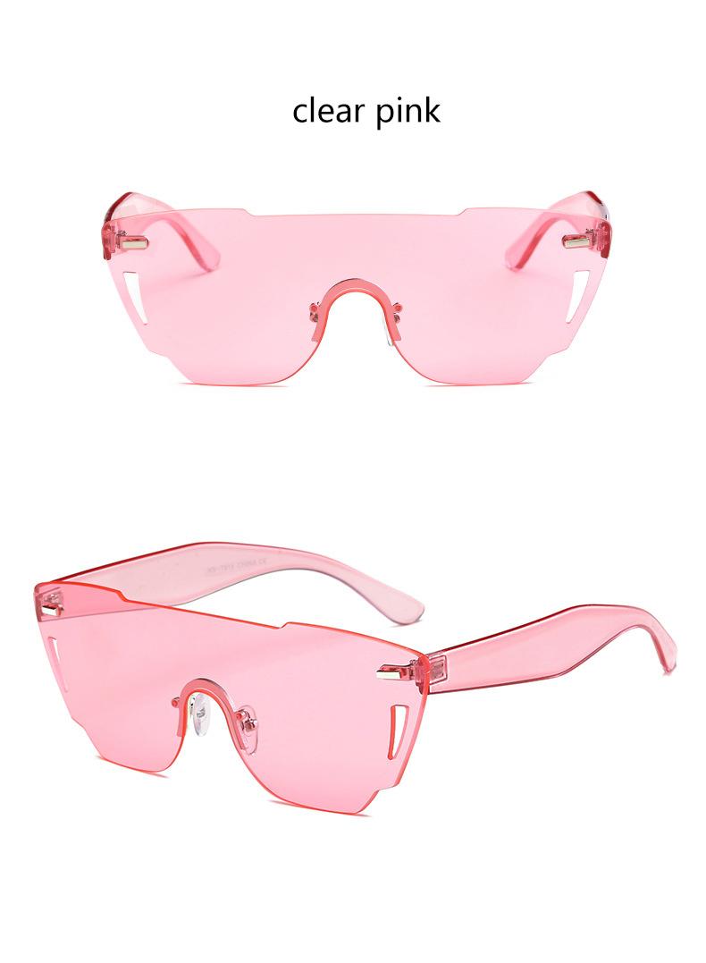 HTB16mhSRXXXXXXbXFXXq6xXFXXXG - Candy Color Sunglasses Flat Top Rimless Sunglasses