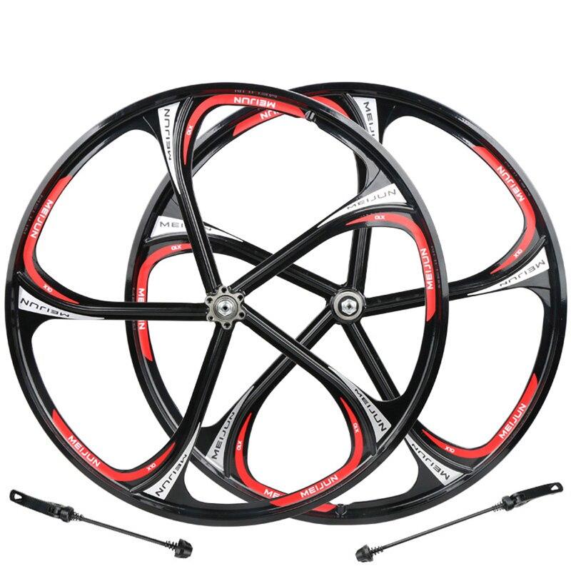 MIEJUN 26 inch Mountain Bikes Magnesium Wheels With Disc Brake Bearing Hubs Integrally Wheelset Wheel Bike