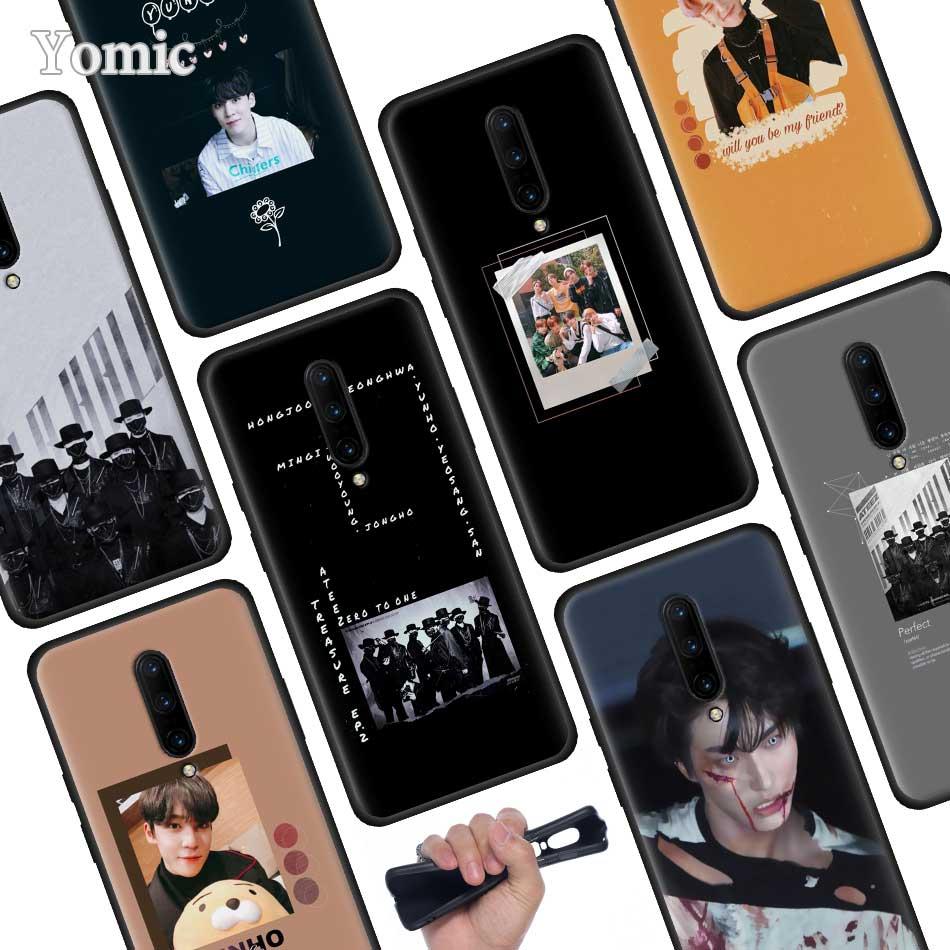 ATEEZ HongJoong SeongHWA Black Soft Case for font b Oneplus b font font b 7 b