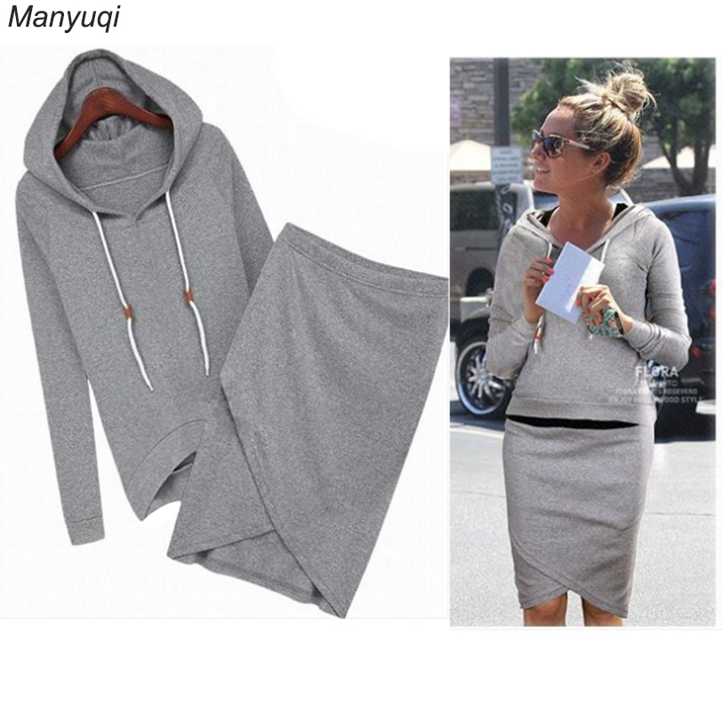 Summer womens tracksuits hoodies tops+irregular skirt sweatshirts casual sporting suits thin tracksuit for women ...