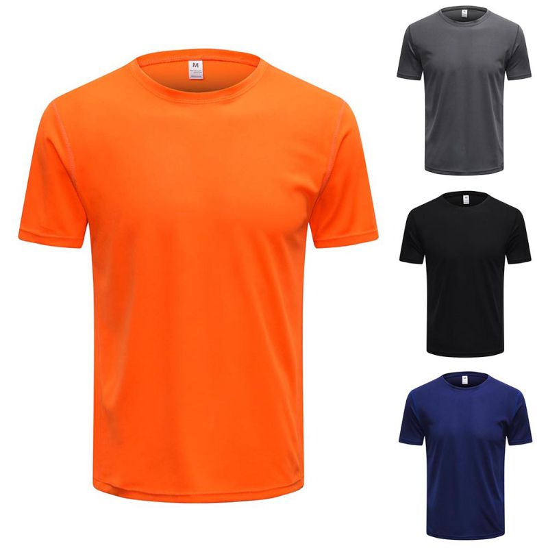 Men Quick-Dry Breathable T-Shirt Short Sleeve sport Fitness T-Shirt Quick Dry Fo