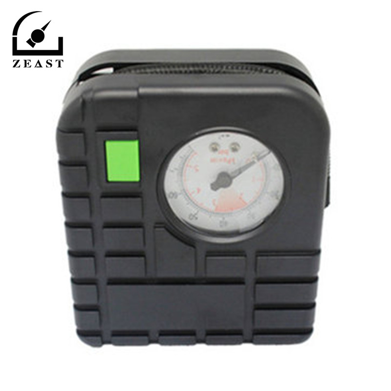 DC 12V 72W Portable Tire Inflator Pump Auto Electric Air Compressor Car Electrombile Motorcycle with Tire Gauge 2 in 1 multifunction tire inflator air compressor w vacuum cleaner yellow dc 12v