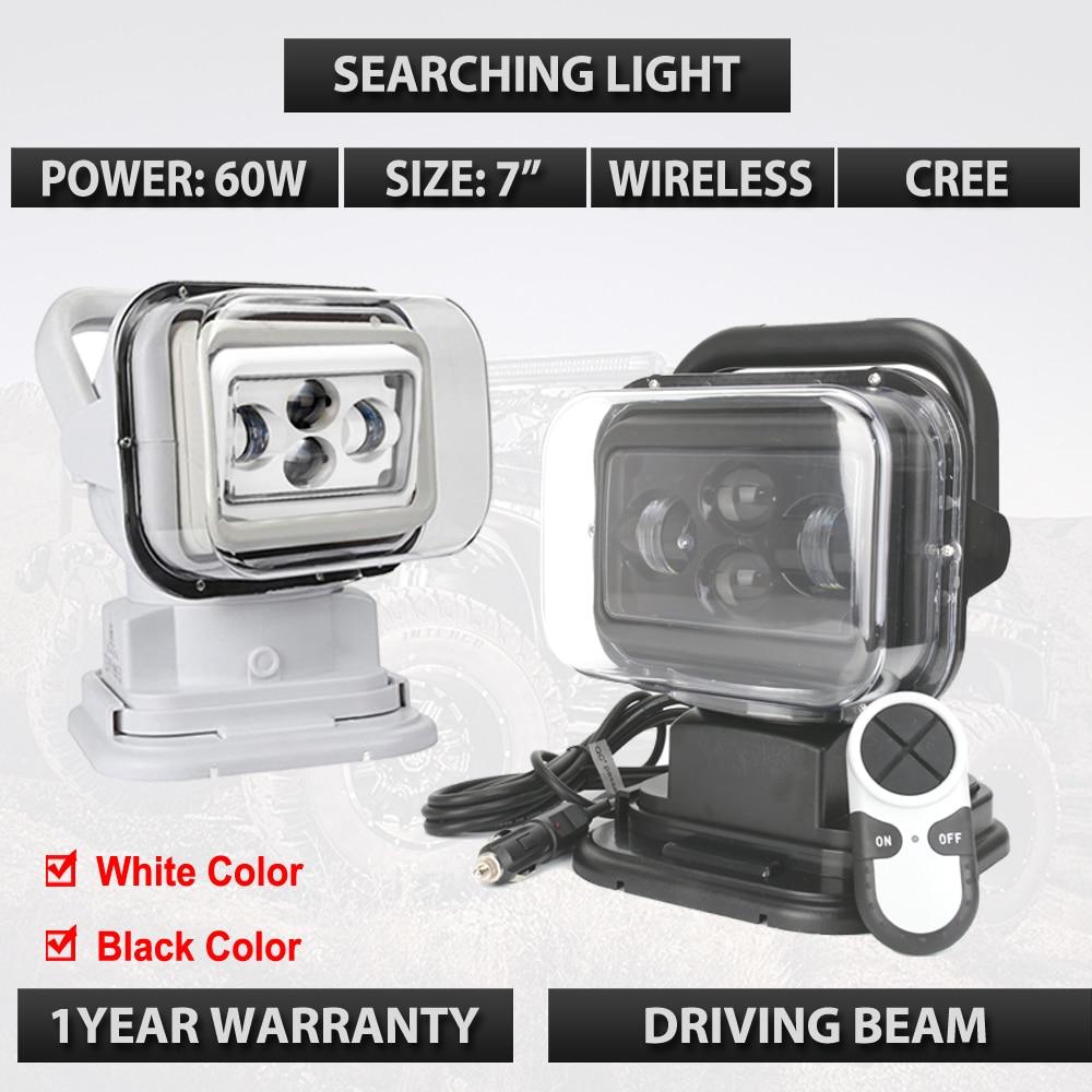 7 inch 60W LED boat Light 12V 24V Led Searching light for Tractor Boat OffRoad 4WD 4x4 Truck SUV ATV 12V 24v Led Marine light light sourcing 22 inch 100w headlight for offroad 4 4 atv suv 12v 24v