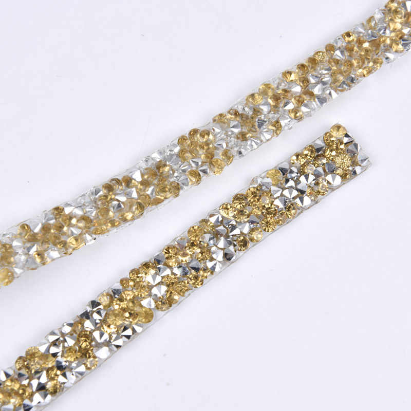 ... 5yard Lot Rhinestone Trim Wedding Decoration Stone And Crystal Applique Strass  Banding Dresses Crafts 1cm ... c68accb8b7a4