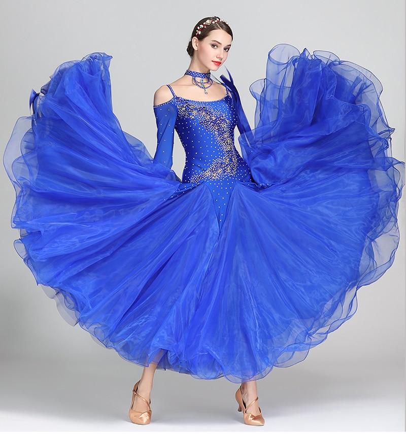 Standard Ballroom Dance Dresses Women 2019 New Design Waltz Dancing Skirt Adult 7 Color Waltz Ballroom Competition Dress