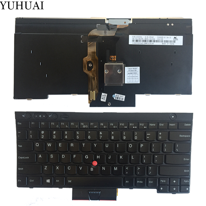 New US for IBM Thinkpad X230 T430 T530 W530 Keyboard backlit V130020CS1 gzeele new us laptop keyboard for lenovo for ibm thinkpad edge e530 e530c e535 e545 04y0301 0c01700 v132020as3 without backlight