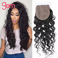 Silk Base Top Closure Brazilian Water Wave Virgin Hair Queen Hair Products Full Lace Bleached Knot Human Hair Natural Wave 1B