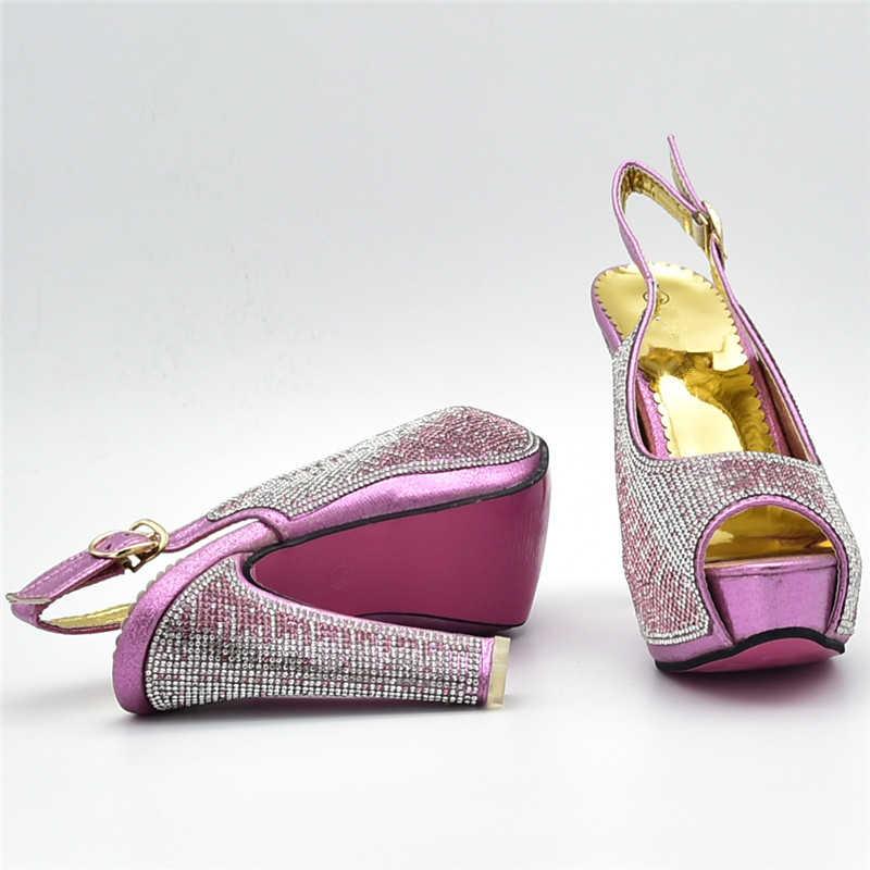 最新のデザインの靴とバッグセットアフリカセット結婚式の靴とバッグセット女性のイタリアの靴とマッチングバッグセット