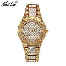 Miss Fox Sun Womens Watches Top Brand Japan Movt Quartz Watch Female Diamond Solar Gold Watch Xfcs Fashion Ladies Wrist Watches цена и фото