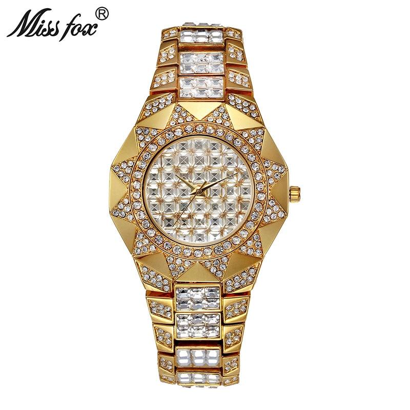 Mlle Fox Soleil Femmes Montres Top Marque Japon Movt Quartz montre Femme Diamant Solaire Or Montre Xfcs Dames De Mode Poignet montres