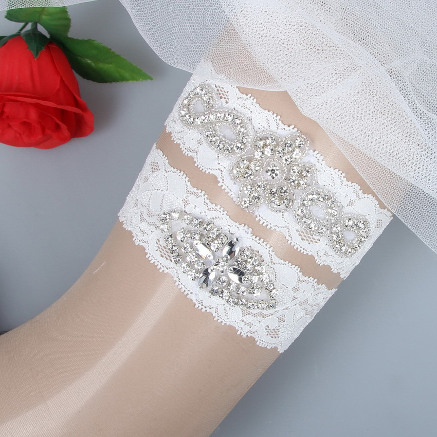 Crystal Wedding Garter: Plus Size Garter Belt Set Bride Jartiyer Sexy Woman Leg