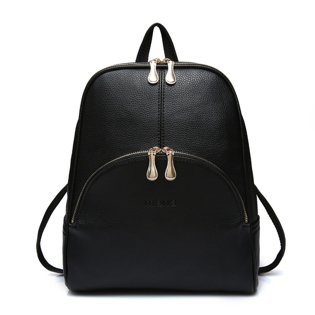 5e93c78bb7 Women Backpack Leather Backpacks Softback Bags Brand Name Bag Preppy Style  Bag Casual Backpacks Teenagers Backpack Sac