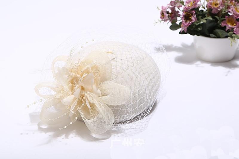 Elegante bruiloft hoeden en tovenaars vrouw Bruiloft hoeden voor - Bruiloft accessoires - Foto 2