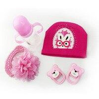 High Quality Doll Milk Bottle Hat Pacifier Headress Suit 22 23 Inch Reborn Baby Dolls Accessories
