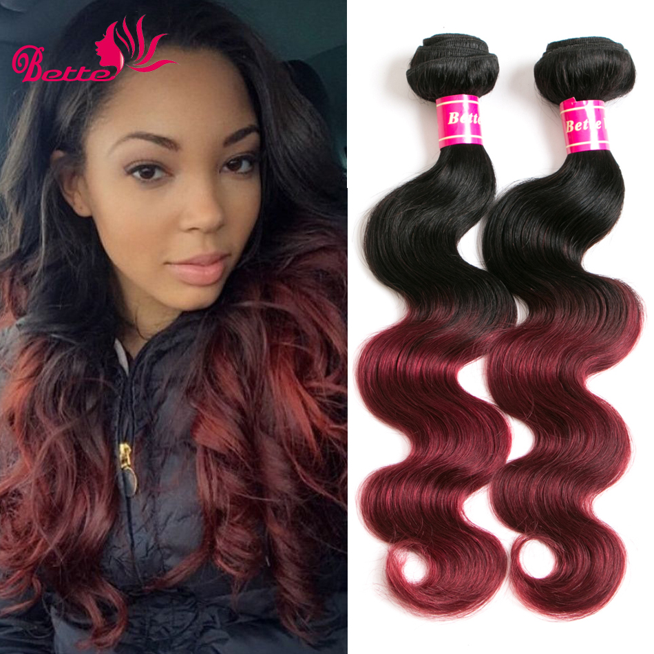 T1bburgundy ombre brazillian hair extensions brazilian virgin t1bburgundy ombre brazillian hair extensions brazilian virgin hair body wave 3 bundles burgundy two tone ombre human hair weave in hair weaves from hair pmusecretfo Choice Image