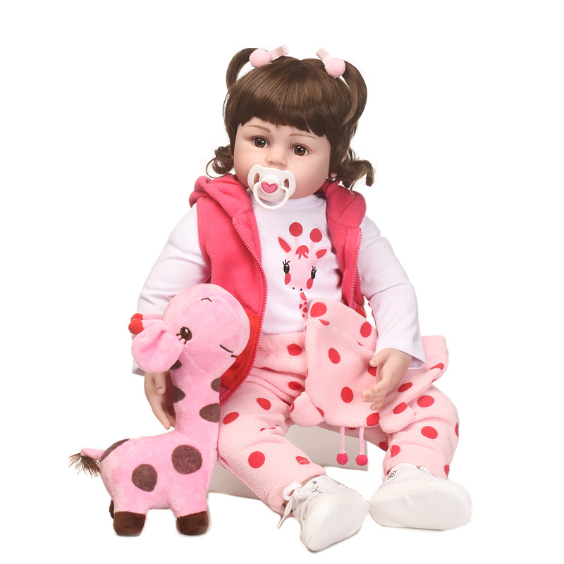 NPK Cute 22 Silicone Reborn Baby Dolls Toy Realistic Lifelike Girl bebe Bonecas Newborn Doll lol toys girl Babies Touch SoftNPK Cute 22 Silicone Reborn Baby Dolls Toy Realistic Lifelike Girl bebe Bonecas Newborn Doll lol toys girl Babies Touch Soft