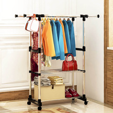 hot deal buy simple coat rack stainless steel storage hanger multifunctional floor-standing indoor and outdoor drying rack home furniture