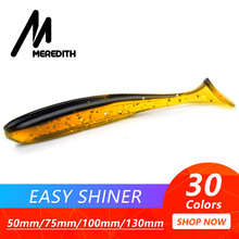 Meredith Easy Shiner 50mm 75mm 100mm 130mm Fishing Lures Wobblers Carp Fishing Soft Lures Silicone Artificial Double Color Baits(China)