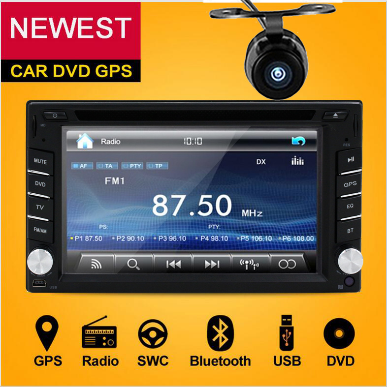 Double 2 Din Car DVD Player Monitor Car Radio GPS Auto no 3G USB BT FM RDS In Dash 2Din Car PC Stereo video Audio Camera For VW 2 din car dvd frame dashboard kits front bezel radio frame adaper dvd cover dash trim kit for kia rio 5 door rhd double din