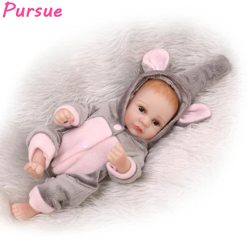 ФОТО Pursue Full Body Silicone Reborn Baby Doll Newborn Realistic Handmade Lifelike Vinyl Alive Brinquedos Newborn Babies  11