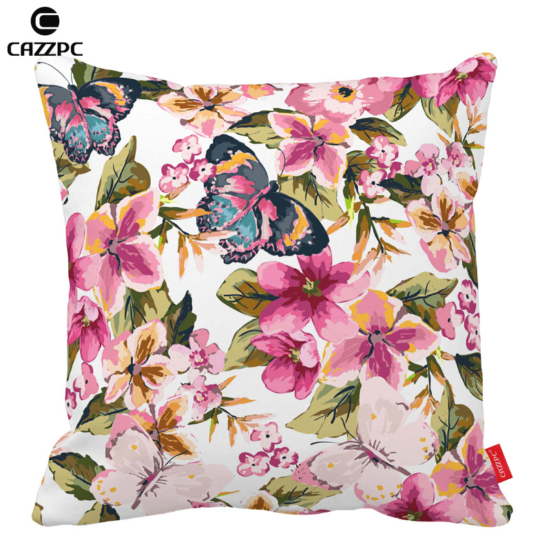 Beautiful Butterfly tropical floral Print Car Decorative Throw Pillowcase Pillow cases Cushion Covers Sofa Chair Home Decor