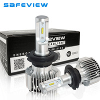 saFEVIEW 2 Pcs car Headlight H7 LED d1s d2s d3s d4s h4 h8 h9 h11 Car/motorcycle head lamp Accessories car driving running lights