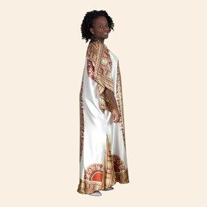 Image 4 - Afrykański dashiki druku diament suknie z aplikacjami dla damska suknia africaine femme 2019