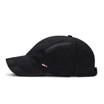 2020 Summer New Mens Outdoor Sport Sunscreen Baseball Hat Running Visor Cap Breathable Quick Dry Mesh Caps Gorras Chapeu 4